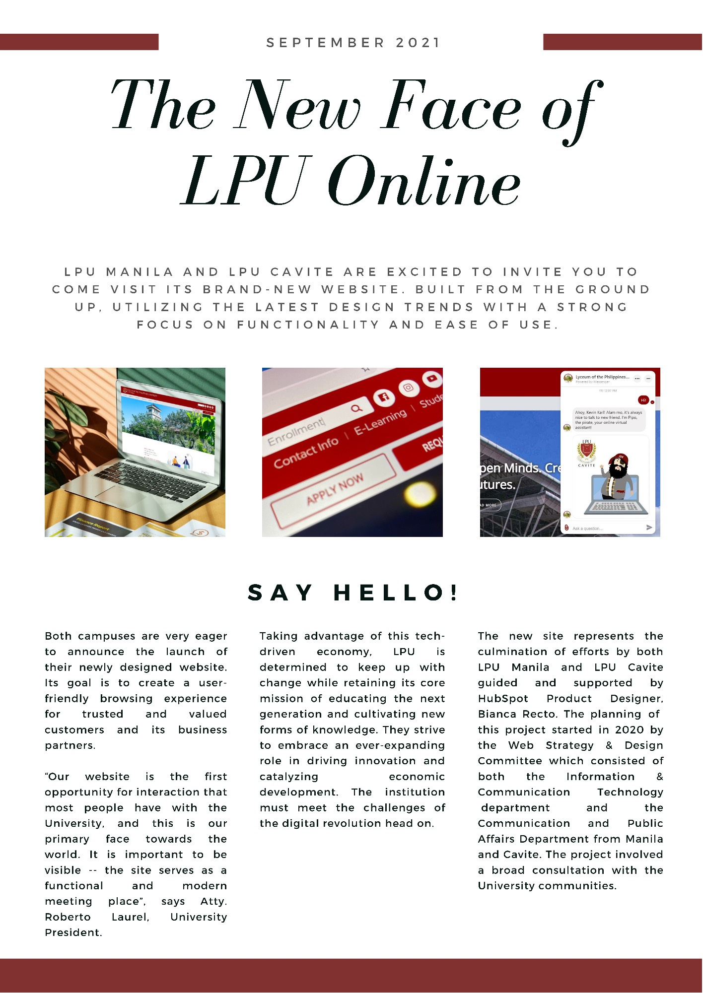 The New Face of LPU Online